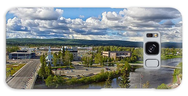 Fairbanks Alaska The Golden Heart City 2014 Galaxy Case by Michael Rogers