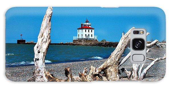 Fairport Harbor Lighthouse 2 Galaxy Case by Michelle Joseph-Long