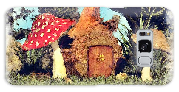 Fairy House With Toadstool Galaxy Case