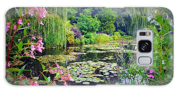 Fairy Tale Pond With Water Lilies And Willow Trees Galaxy Case