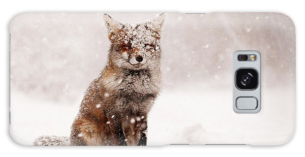 Fairytale Fox _ Red Fox In A Snow Storm Galaxy Case
