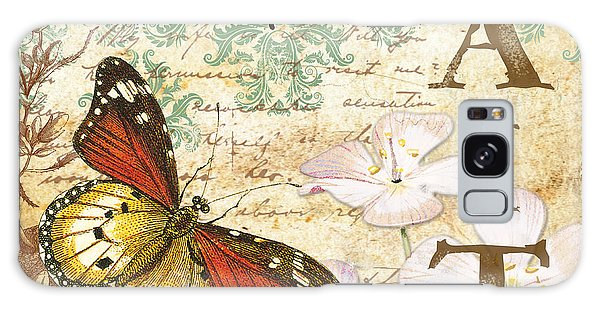 Faith And Butterflies Galaxy Case by Jean Plout