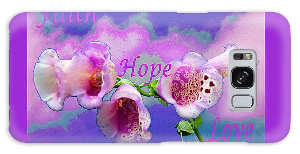 Faith-hope-love Galaxy Case by Mike Breau