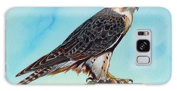 Falcon On Stump Galaxy Case