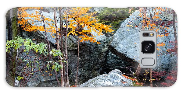 Fall Among The Rocks Galaxy Case by Bill Howard