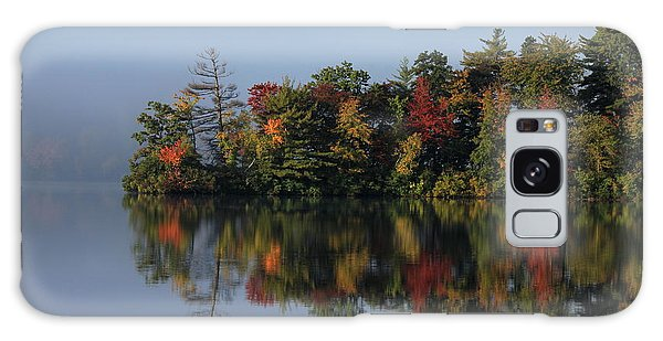 Fall At Heart Pond Galaxy Case
