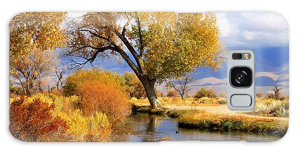Fall At The River Galaxy Case by Marilyn Diaz
