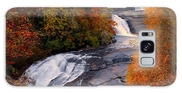 Fall At Triple Falls Galaxy Case