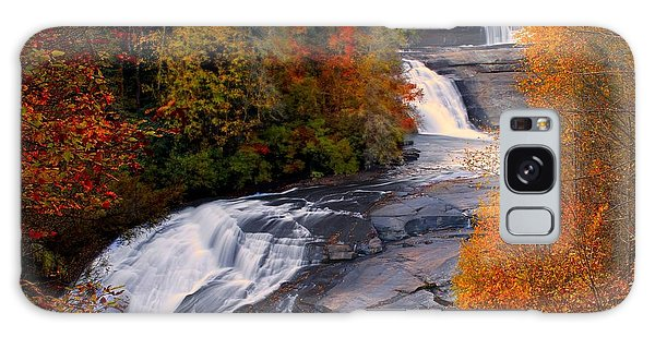 Fall At Triple Falls Galaxy Case