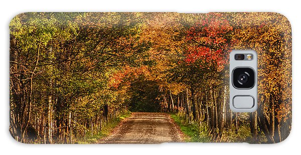 Fall Color Along A Dirt Backroad Galaxy Case by Jeff Folger