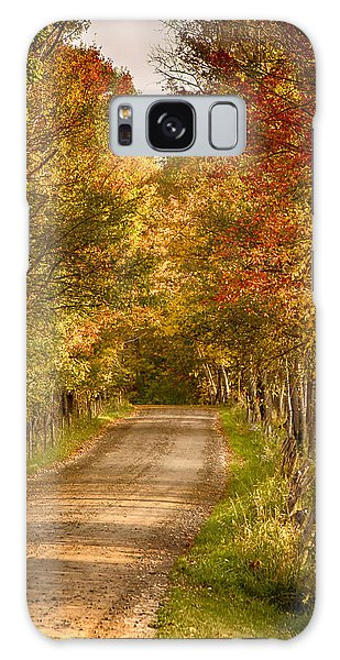 Fall Color Along A Peacham Vermont Backroad Galaxy Case by Jeff Folger