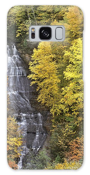 Fall Color Surrounds Chapel Falls On The Michigan Upper Peninsula Galaxy Case by Dave Welling