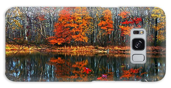 Fall Colors On Small Pond Galaxy Case