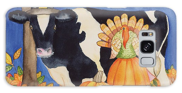 Fall Cow Galaxy Case by Kathleen Parr Mckenna