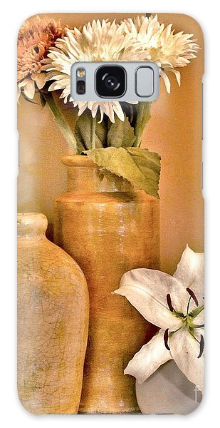 Fall Floral Bouquets Galaxy Case by Marsha Heiken