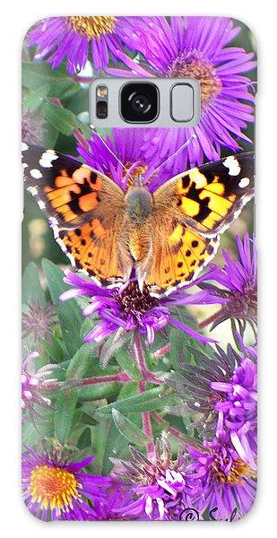 Fall Flutterby Galaxy Case by Sylvia Thornton