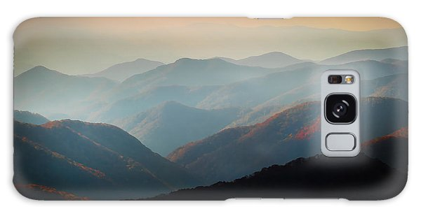 Fall Foliage Ridgelines Great Smoky Mountains Painted  Galaxy Case