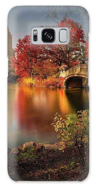 New Leaf Galaxy Case - Fall In Central Park by Christopher R. Veizaga