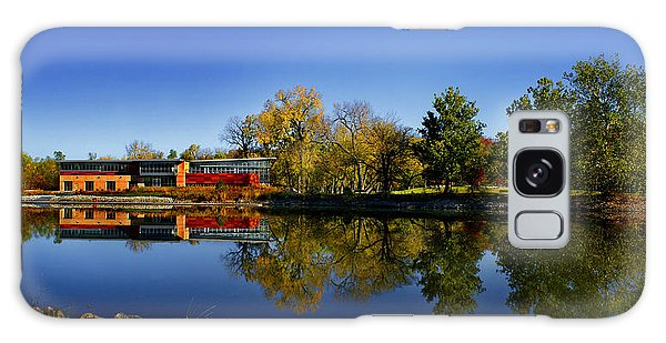Fall Iowa River View Galaxy Case