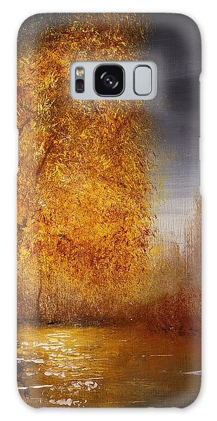 Fall Lake Reflections Galaxy Case
