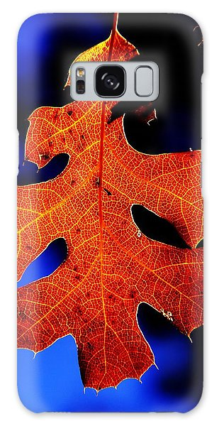Fall Leaf Closeup Galaxy Case