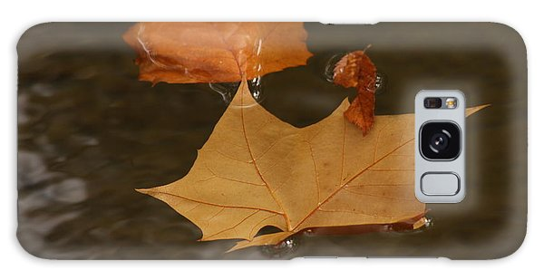 Fall Leaves On Water Galaxy Case