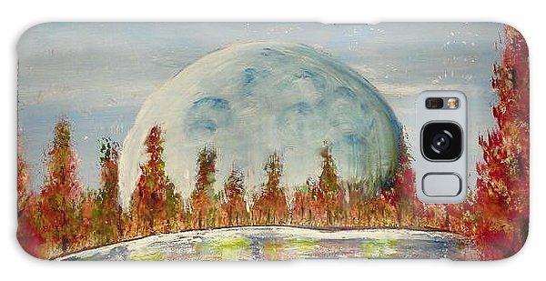 Fall Moon Rising Galaxy Case by Carol Duarte