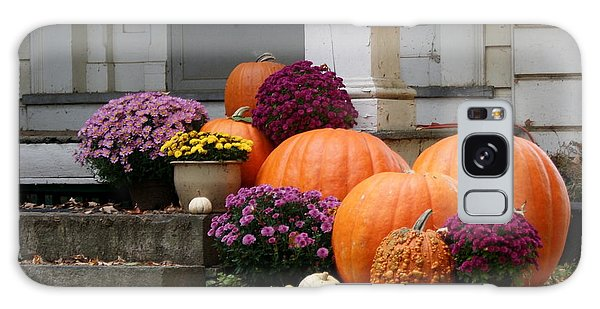 Fall Mums And Pumpkins Galaxy Case