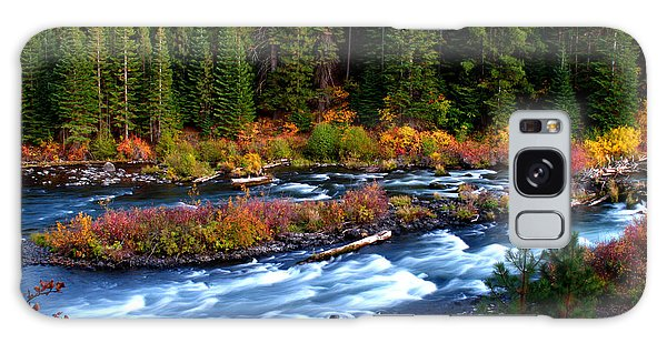 Fall On The Deschutes River Galaxy Case by Kevin Desrosiers