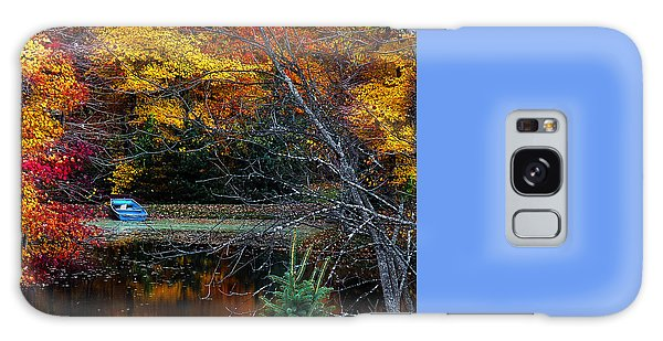 Foliage Galaxy Case - Fall Pond And Boat by Tom Mc Nemar