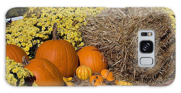 Fall Pumpkin Scene Galaxy Case