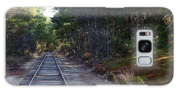 Fall Railroad Track To Somewhere Galaxy Case