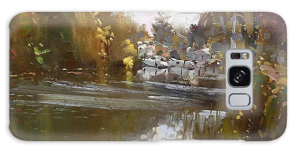 Reflections Galaxy Case - Fall Reflections At North Tonawanda Canal by Ylli Haruni