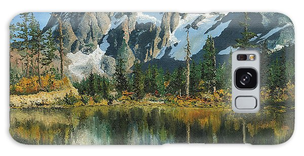 Fall Reflections - Cascade Mountains Galaxy Case by Mary Ellen Anderson