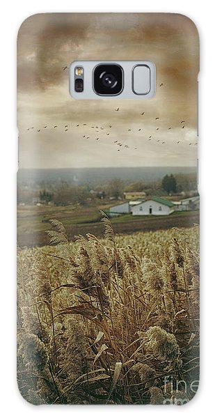 Galaxy Case featuring the photograph Fall Rural Scene Of A Farm In The Valley by Sandra Cunningham