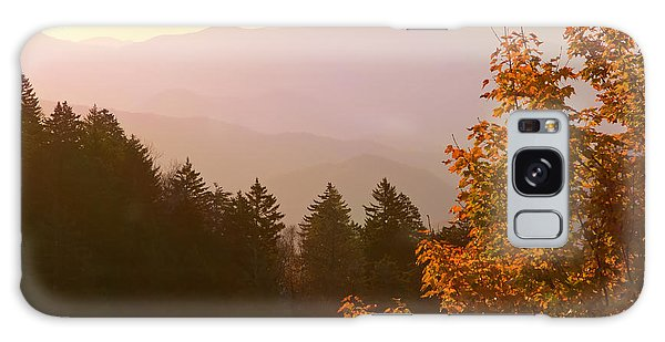 Fall Smoky Mountains Galaxy Case by Melinda Fawver