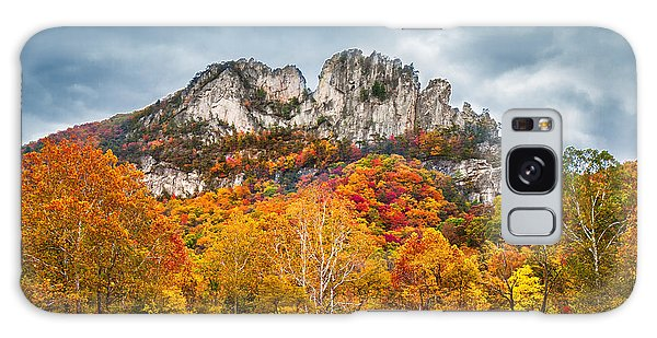 Fall Storm Seneca Rocks Galaxy Case