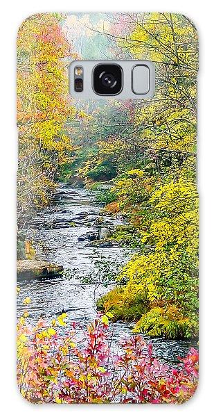 Fall Stream In New Hampshire Galaxy Case
