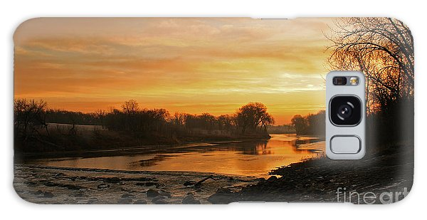 Fall Sunrise On The Red River Galaxy Case