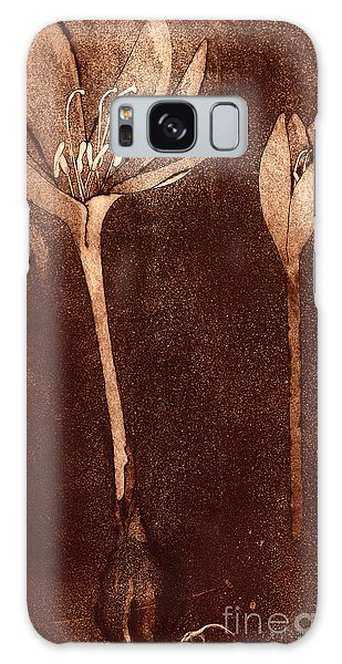 Fall Time - Autumn Crocus Meadow Safran Galaxy Case