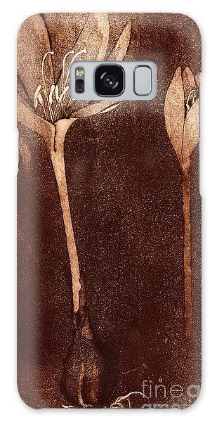 Fall Time - Autumn Crocus Meadow Safran Galaxy Case