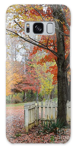 Fall Tranquility Galaxy Case by Debbie Green