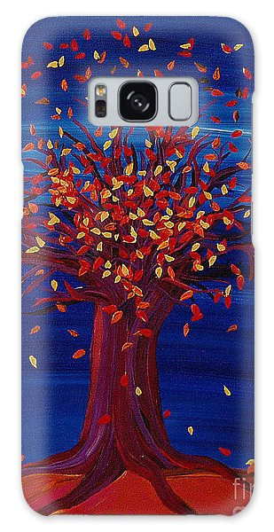Fall Tree Fantasy By Jrr Galaxy Case by First Star Art