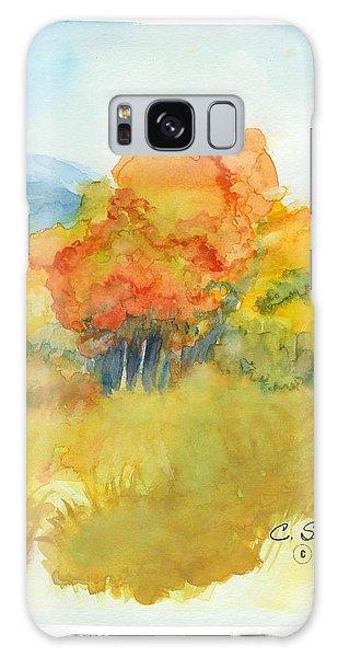Fall Trees 2 Galaxy Case by C Sitton