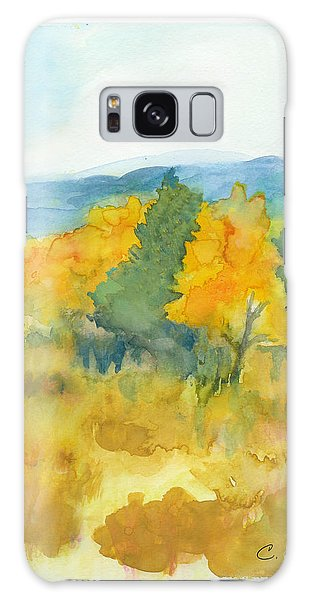 Fall Trees Galaxy Case by C Sitton