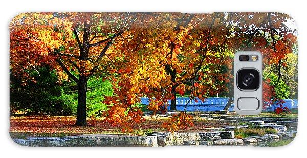 Fall Trees Landscape Stream Galaxy Case