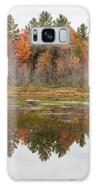 Fall Trees Reflected In Lake Chocorua Galaxy Case by Karen Stephenson