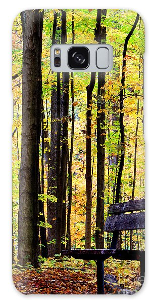 Fall Woods In Michigan Galaxy Case