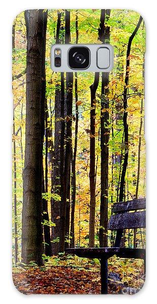 Fall Woods In Michigan Galaxy Case