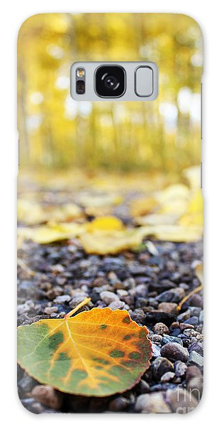 Galaxy Case featuring the photograph Fallen Leaf by Kate Avery